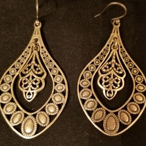 Lucky Brand antique gold earrings